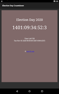 US Presidential Election Day 2020 Countdown
