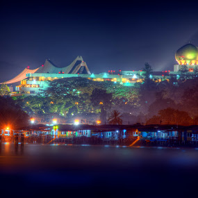 The Water Village of  Brunei Darussalam by Mohamad Sa'at Haji Mokim - Buildings & Architecture Public & Historical ( hdr )