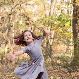 Spinning in the Leaves by Marco Vergara - Babies & Children Children Candids ( autumn, fall, leaves )