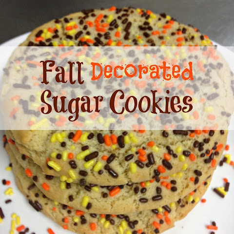 Fall Decorated Sugar Cookies