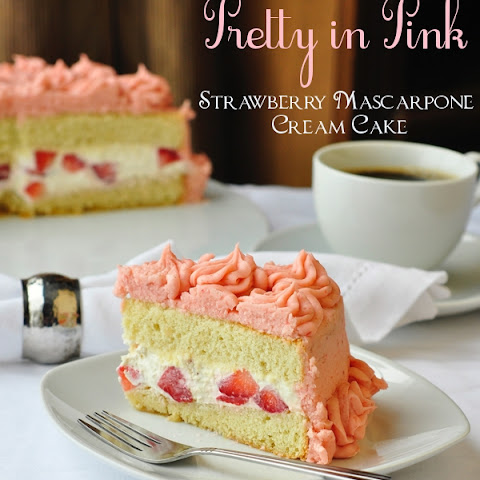Strawberry and Mascarpone Cream Layer Cake Recipe | Yummly