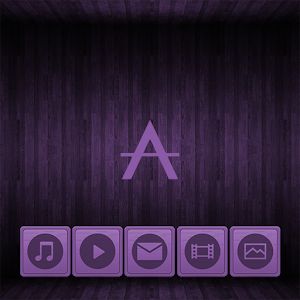 Cover art Wooden Icons Violet XZ Theme