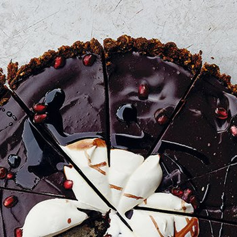 Chocolate Tart with Pine-Nut Crust