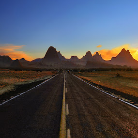 long way to drive  by Al Juniarsam  - Landscapes Sunsets & Sunrises
