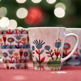 Maja's Mugs by Svemir Brkic - Artistic Objects Cups, Plates & Utensils ( christmas lights, three, mug, cup,  )