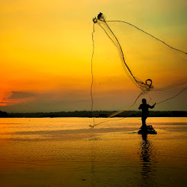 Fisherman by Muhammad Yoserizal - Landscapes Sunsets & Sunrises