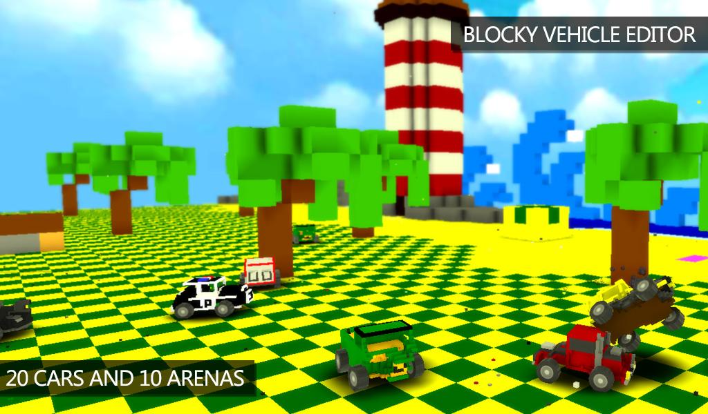 Blocky Demolition Derby Screenshot 1