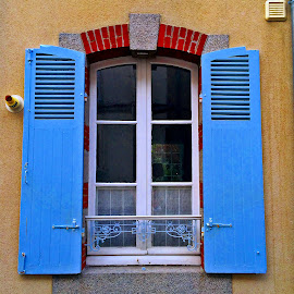 Window by Dobrin Anca - Buildings & Architecture Architectural Detail ( contrast, window, colorful, street, brittany )