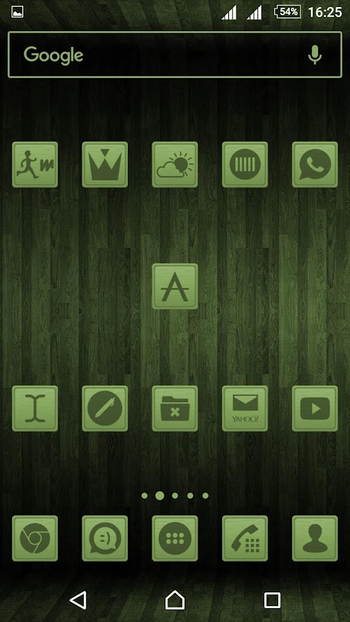 Wooden Icons Green Screenshot 2
