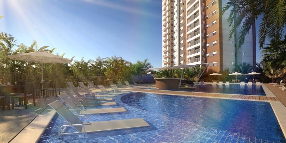 Apto de 66m² com 2 dorms sendo 1 suite no Brookfield Century Plaza Living, Santo André, SP.