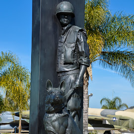 National War Dog Memorial by Tom Anderson - Buildings & Architecture Statues & Monuments ( march field air museum, national war dog memorial )