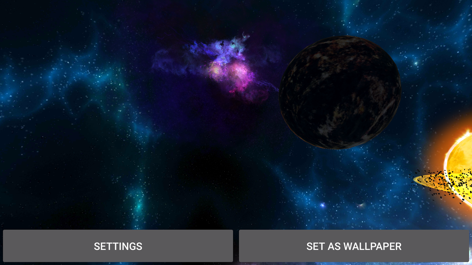 3D Galaxies Exploration LWP Screenshot 9