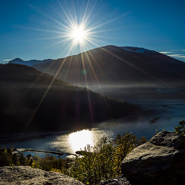 Sunshining in Loen, Norway fjords. by Tania Slavcheva - Landscapes Travel ( nature, awesome, weather, shining, loen, mountaind, sun, fjord, norway )