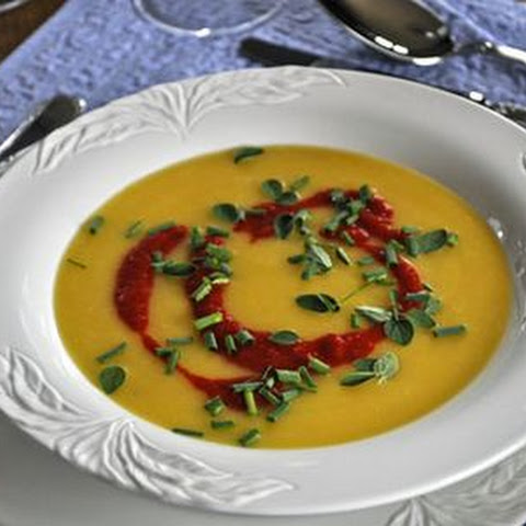 Chilled Yellow Tomato and Pepper Soup