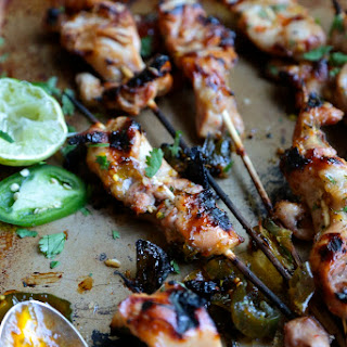Cowboy Candy Chicken Skewers