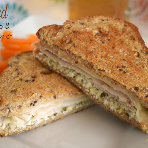 Grilled Turkey Pesto and Swiss Sandwich