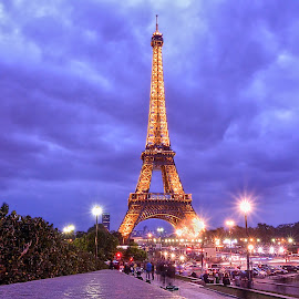 Eiffel Tower by Zion Tay Zi Yong - City,  Street & Park  Street Scenes ( eiffel tower, paris, france, long exposure )