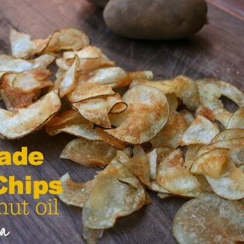 Homemade Potato Chips with Coconut Oil