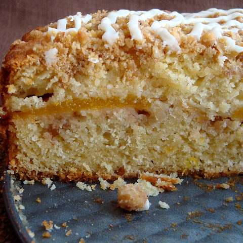 Buttermilk Peach Coffee Cake