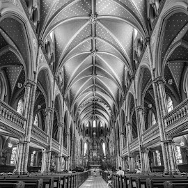 Details by Roland Bast - Black & White Buildings & Architecture ( details, canada, church, black and white, cathedral )