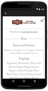 Amherst Pizza & Ale House - screenshot
