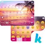 Sunset Beach Kika Keyboard 24.0 Apk