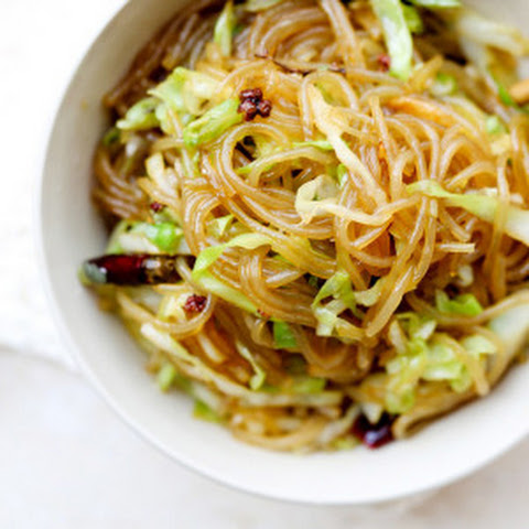 Glass Noodles Stir Fry with Shredded Cabbage