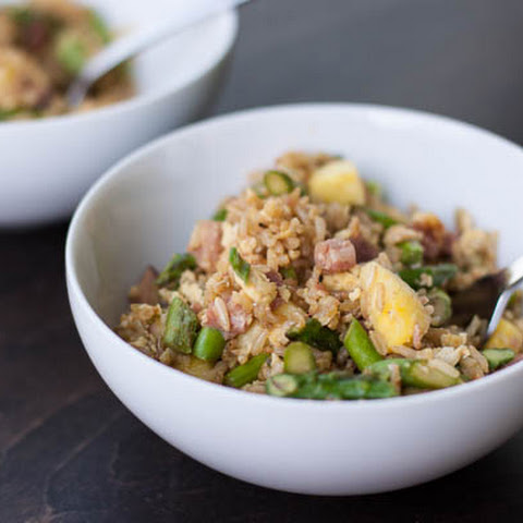 Asparagus, Ham, and Pineapple Fried Rice