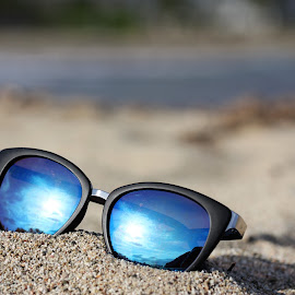sunglasses at the beach by Carola Mellentin - Artistic Objects Clothing & Accessories
