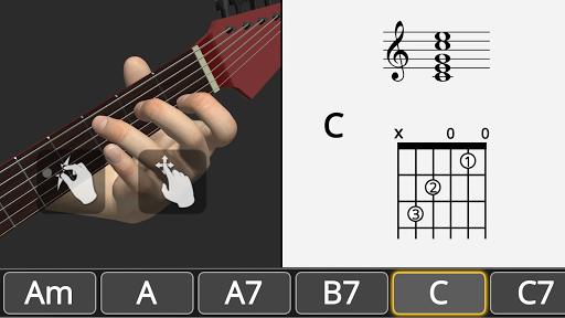 Basic Guitar Chords 3D screenshot 1