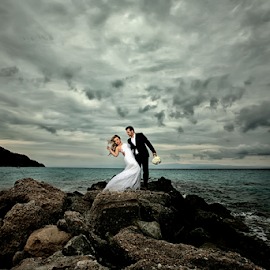 by Ilias Zaxaroplastis - Wedding Bride & Groom