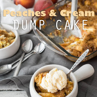 Peaches and Cream Dump Cake