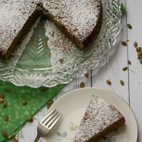 Pepita Cake with Mexican Chocolate and Tequila