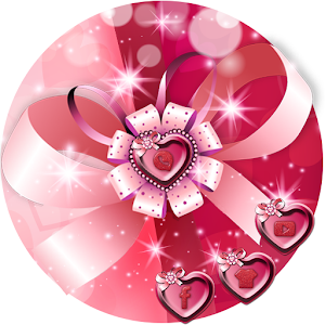 Download pink silk heart theme lovely wallpaper For PC Windows and Mac