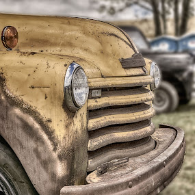Old Yeller by Scott Bryan - Transportation Automobiles ( old, tow truck, vintage, truck, transportation, landscape, antique, classic )