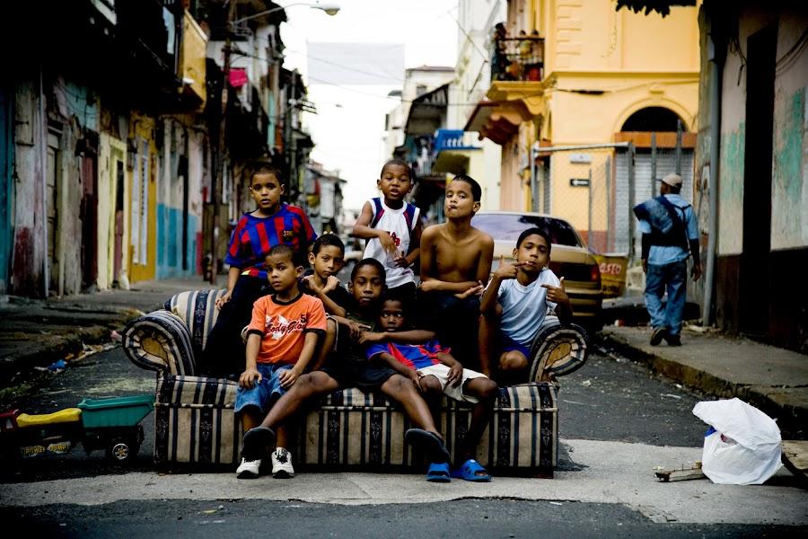 Panama City by Alastair Macpherson - City,  Street & Park  Street Scenes
