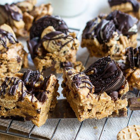 Bottom-of-the-Cookie-Jar Peanut Butter-Marshmallow-Graham Bars