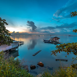 Dove Jetty by Lim Keng - Landscapes Waterscapes