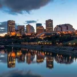 Beautiful Edmonton by Levent Cetin - City,  Street & Park  Skylines ( waters, canada, waterscape, cities, cityscape, edmonton )