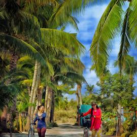 Cathy and Ginna by Ferdinand Ludo - People Street & Candids ( sem break, bantayan island, placid hotel, enjoying college break )