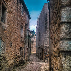 Old Town by Branko Meic-Sidic - City,  Street & Park  Street Scenes ( hystorical, hdr, street, croatia, stonehouses, pirovac )