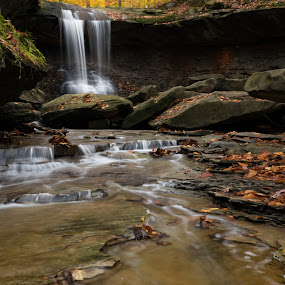 Blue Hen Falls by Sam Alexander - Landscapes Waterscapes ( ohio, 2015, blue hen falls )