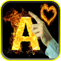 Download كتابة اسمك بالنار باللمس APK to PC