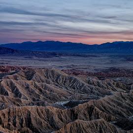 Canyons of Anza Borrego by Vinod Kalathil - Landscapes Mountains & Hills ( desert, sunset, california, anza borrego, canyon, landscape, united states )