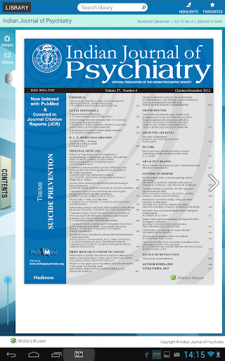 Indian Journal of Psychiatry - screenshot