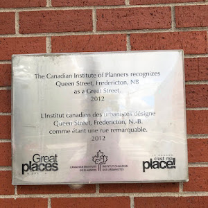 The Canadian Institute of Planners recognizes Queen Street, Fredericton, NB as a Great Street 2012  Submitted by @bthubbard