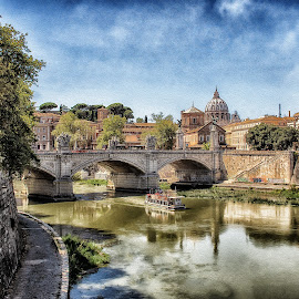 Vatican2 by Inna Fangel - Buildings & Architecture Public & Historical ( sky, roma, city, vatican, river, travel, italy,  )
