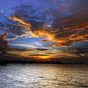 DRAMATICAL FULL SUNSET by Arif Otto - Landscapes Sunsets & Sunrises