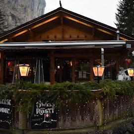 Mountain pub by Willem Pretorius - Buildings & Architecture Office Buildings & Hotels ( lights, lantern, christmas, tourism, mountian )
