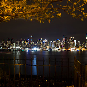 The Hudson River by Linda Antenucci - City,  Street & Park  Skylines (  )